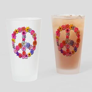 FloralPeace Drinking Glass