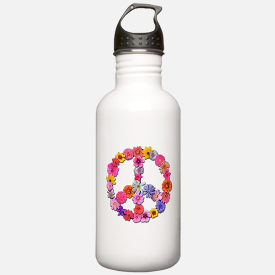 FloralPeace.png Water Bottle