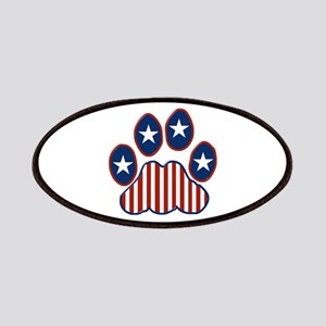 Patriotic Paw Print Patches