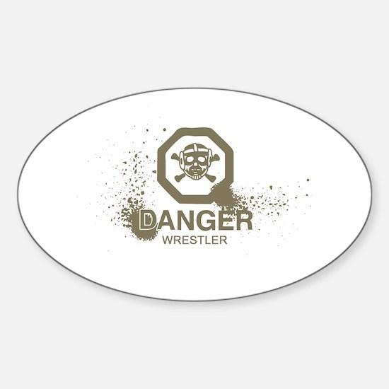 DangerWrestler.png Sticker (Oval)