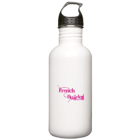 French Bulldog in Pink Stainless Water Bottle 1.0L