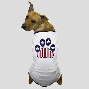 Patriotic Paw Print Dog T-Shirt