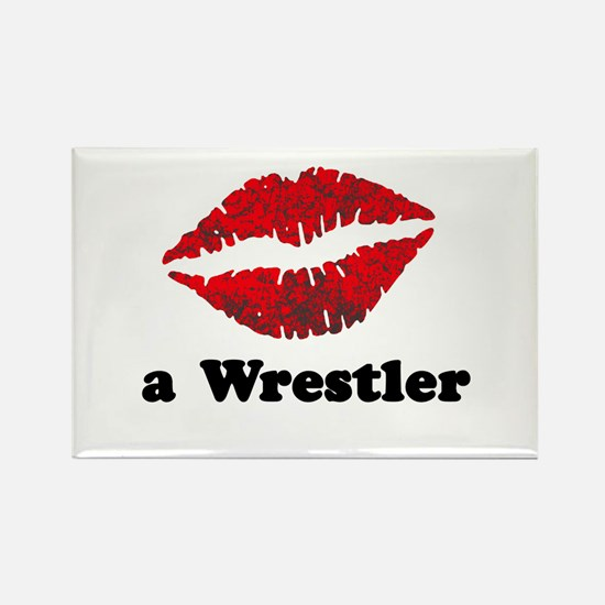 KissAWrestler.png Rectangle Magnet