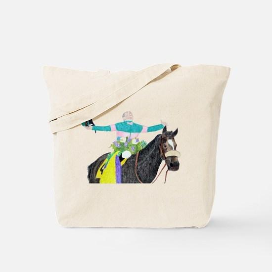 Funny Horse racing Tote Bag