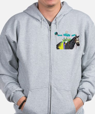 Cute Year of the horse Zip Hoodie