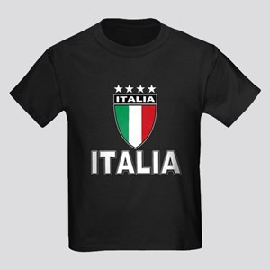 Italian World Cup Soccer Kids Dark T-Shirt