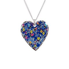 Yuzen Blue Dolls Necklace