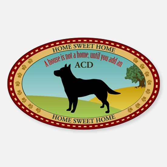 Australian Cattle Dog Sticker (Oval)