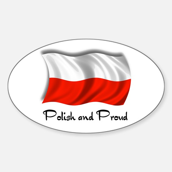 Polish and Proud Oval Decal