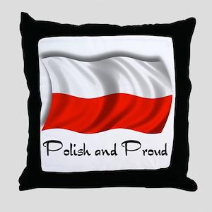 Polish and Proud Throw Pillow