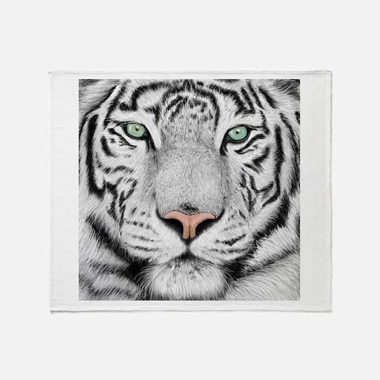 White Tiger Throw Blanket