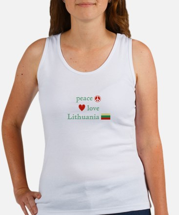 Peace, Love and Lithuania Women's Tank Top