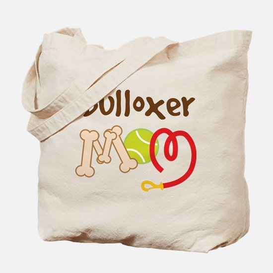 Bulloxer Dog Mom Tote Bag