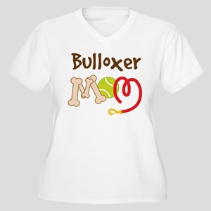 Bulloxer Dog Mom Women's Plus Size V-Neck T-Shirt
