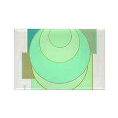 OYOOS Circle Square design Rectangle Magnet (10 pa