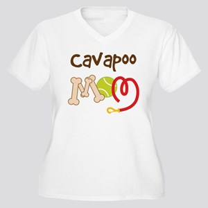 Cavapoo Dog Mom Women's Plus Size V-Neck T-Shirt