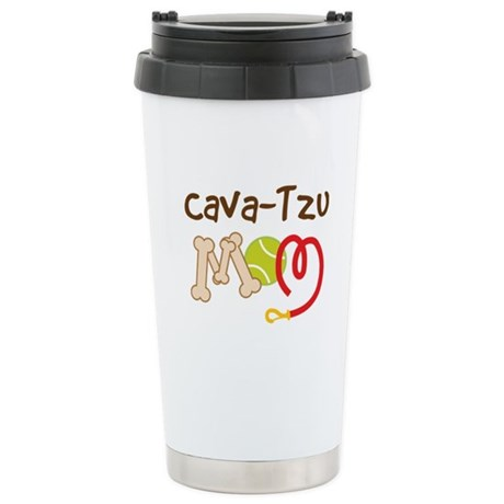 Cava-Tzu Dog Mom Stainless Steel Travel Mug