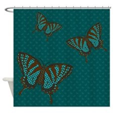 Native Swallowtail Shower Curtain