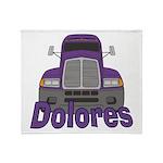 Trucker Dolores Throw Blanket