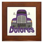 Trucker Dolores Framed Tile