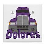 Trucker Dolores Tile Coaster