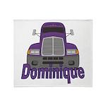 Trucker Dominique Throw Blanket