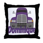 Trucker Dominique Throw Pillow