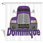 Trucker Dominique Shower Curtain