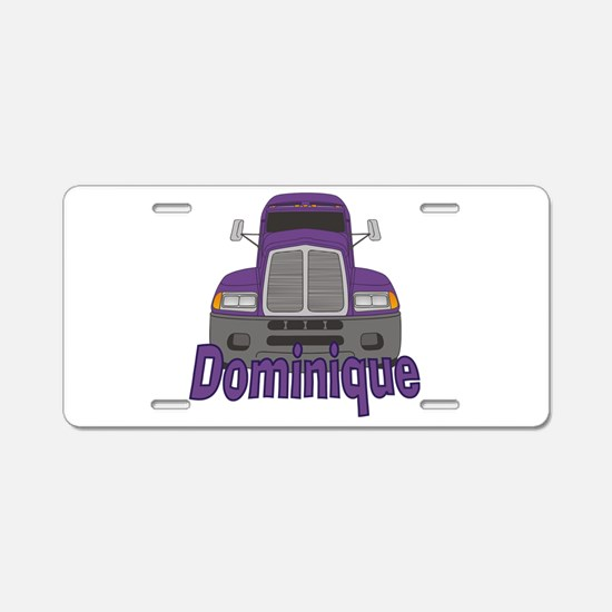 Trucker Dominique Aluminum License Plate