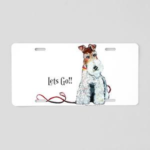 Fox Terrier Walk Aluminum License Plate
