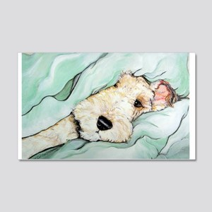 Napping Wire Fox Terrier 20x12 Wall Decal