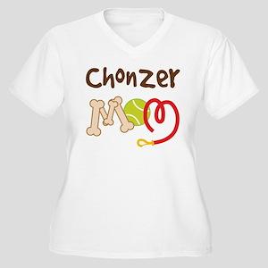 Chonzer Dog Mom Women's Plus Size V-Neck T-Shirt