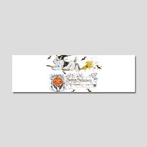 Halloween Fox Terrier Car Magnet 10 x 3