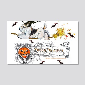 Halloween Fox Terrier 20x12 Wall Decal