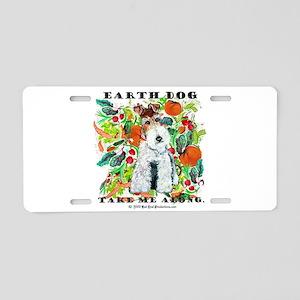 Fox Terrier Vegies earth dog Aluminum License