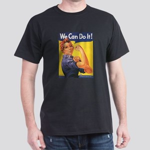 Women We Can Do It! Black T-Shirt