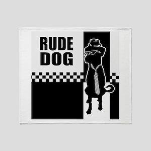 Rude Dog Throw Blanket
