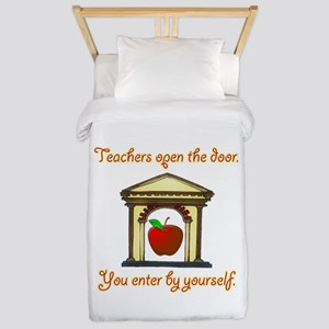Teachers Open The Door Twin Duvet Cover