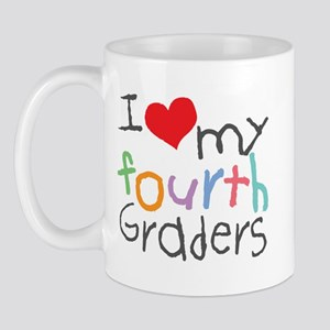 I Love My 4th Graders Mug