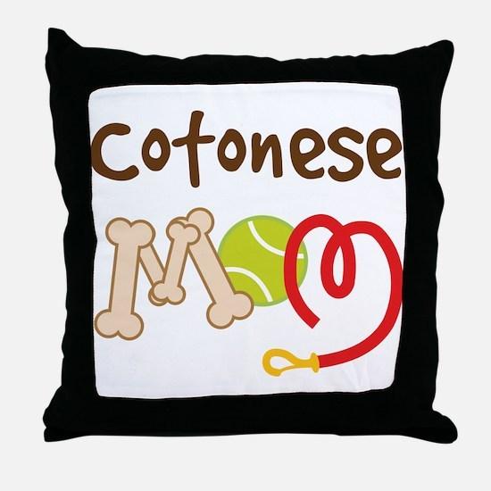 Cotonese Dog Mom Throw Pillow