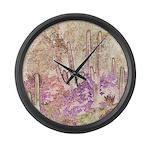 Wild Saguaros Large Wall Clock
