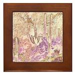 Wild Saguaros Framed Tile