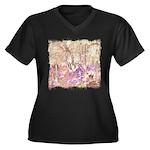 Wild Saguaros Women's Plus Size V-Neck Dark T-Shir