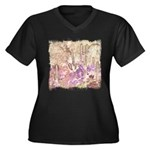 Wild Saguaros Women's Plus Size V-Neck Dark T-Shir