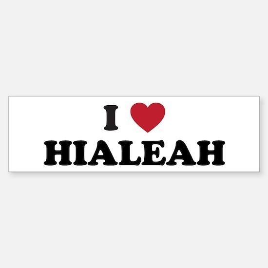 I Love Hialeah Florida Sticker (Bumper)
