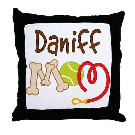 Daniff Dog Mom Throw Pillow