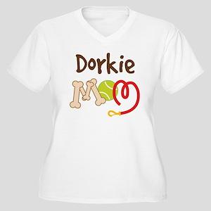 Dorkie Dog Mom Women's Plus Size V-Neck T-Shirt