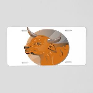 Bull Head Aluminum License Plate