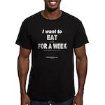 EatYouForWeek Men's Fitted T-Shirt (dark)