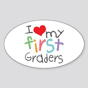 I Love My 1st Graders Oval Sticker